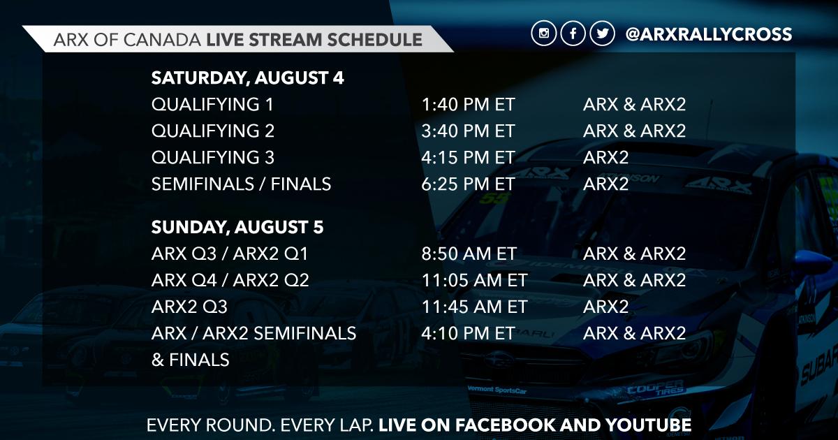 ARX live stream