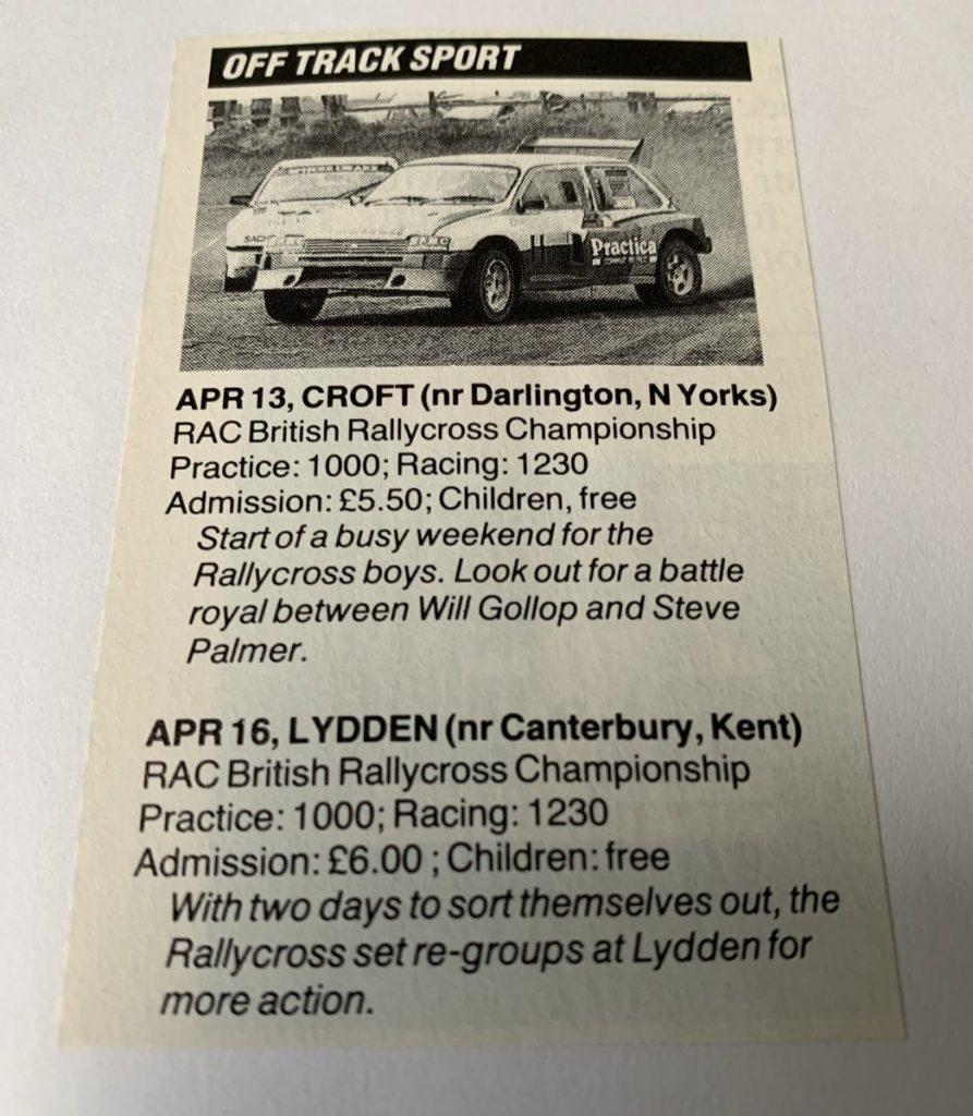 British RX 1990: Croft, Lydden Hill